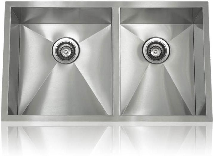 Lenova SS-0Ri-D1 Zero Radius Undermount Double Bowl Kitchen Sink Stainless Steel