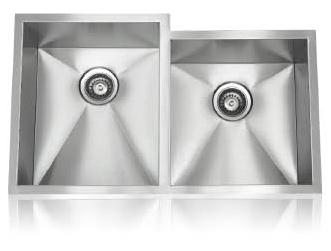 Lenova SS-0Ri-D2 Zero Radius Undermount Double Bowl Kitchen Sink Stainless Steel