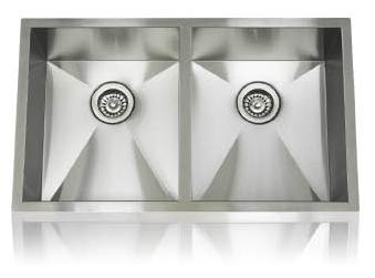 Lenova SS-0Ri-D3 Zero Radius Undermount Double Bowl Kitchen Sink Stainless Steel
