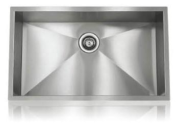 Lenova SS-0Ri-S1 Zero Radius Undermount Single Bowl Kitchen Sink Stainless Steel