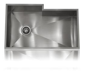 Lenova SS-0Ri-S2 Zero Radius Undermount Single Bowl Kitchen Sink Stainless Steel