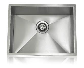 Lenova SS-0Ri-S3 Zero Radius Undermount Single Bowl Kitchen Sink Stainless Steel