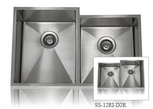 Lenova SS-12Ri-D2L One-Half Radius Collection Undermount Double Bowl Kitchen Sink Stainless Steel