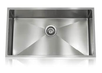 Lenova SS-12Ri-S1 One-Half Radius Collection Undermount Single Bowl Kitchen Sink Stainless Steel