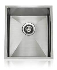 Lenova SS-12Ri-S3 One-Half Radius Collection Undermount Single Bowl Kitchen Sink Stainless Steel