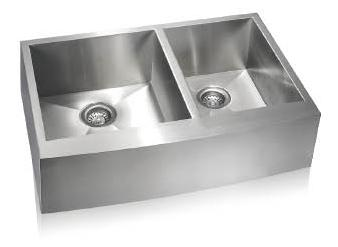 Lenova SS-AP-D33 Apron Front Undermount Double Bowl Kitchen Sink Stainless Steel