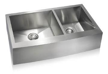 Lenova SS-AP-D36 Apron Front Undermount Double Bowl Kitchen Sink Stainless Steel