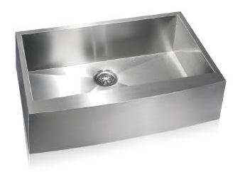 Lenova SS-AP-S33 Apron Front Undermount Single Bowl Kitchen Sink Stainless Steel