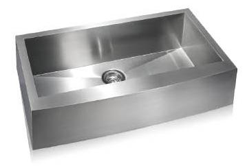 Lenova SS-AP-S36 Apron Front Undermount Single Bowl Kitchen Sink Stainless Steel