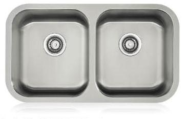 Lenova SS-CL-D1-16 Classic 16 Gauge Undermount Double Bowl Kitchen Sink Stainless Steel