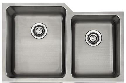 Lenova SS-CL-D11L-16 Classic 16 Gauge Undermount Double Bowl Kitchen Sink Stainless Steel