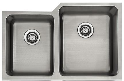 Lenova SS-CL-D11R-16 Classic 16 Gauge Undermount Double Bowl Kitchen Sink Stainless Steel