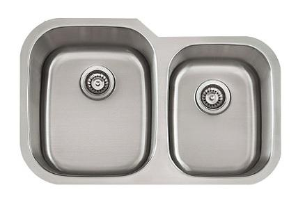 Lenova SS-CL-D15L Classic 18 Gauge Undermount Double Bowl Kitchen Sink Stainless Steel