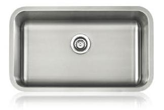 Lenova SS-CL-S2-16 Classic 16 Gauge Undermount Single Bowl Kitchen Sink Stainless Steel