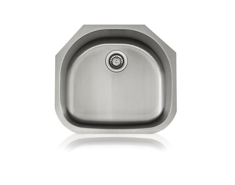 Lenova SS-CL-S3 18-Gauge Stainless Steel Classic Single Bowl Undermount Kitchen Sink