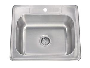 Lenova SS-TM-25818-1H Drop In Single Bowl Kitchen Sink Stainless Steel