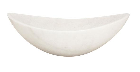 Lenova SV-20 White Marble Above Counter Stone Bath Sink