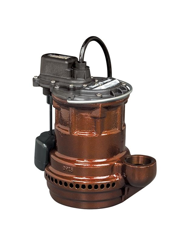 Liberty Pumps 243 1/4 hp, Sub. Sump pump, Cast iron, wide angle float with series plug, 115V.