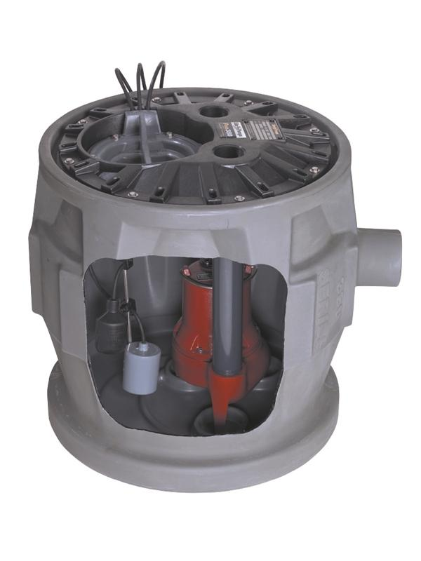 "Liberty Pumps P372LE71 3/4 HP, Simplex Sewage Package, 1 PH, 115V, 2"" Dischargearge"