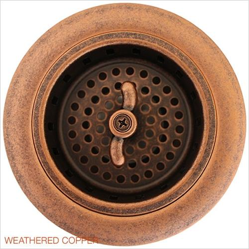 Linkasink D003 WC Non Overflow Basket Strainer Weathered Copper