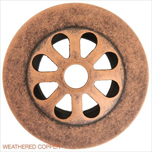 Linkasink D004 WC Non Overflow Grid Strainer Weathered Copper