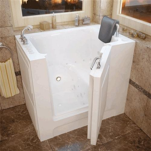 Meditub 2739 27 x 39 x 37 Walk-In Tub Acrylic White