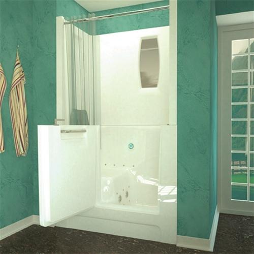 Meditub 2747 27 x 47 x 37 Walk-In Tub Acrylic White