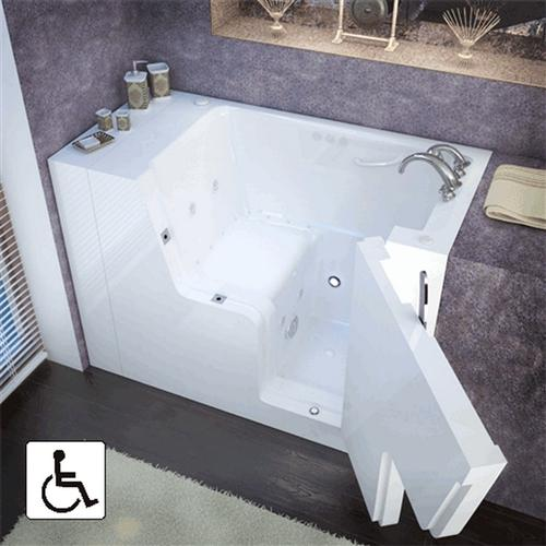 Meditub 2953WCA 29 x 53 x 42 Slide-In Tub Wheelchair Accessible Gel Coat White