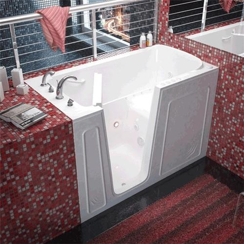 Meditub 3260 32 x 60 x 40 Walk-In Tub Acrylic White