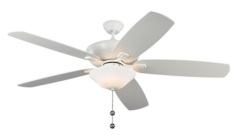 "Monte Carlo 5CSM60RZWD Ceiling Fan 52"" Rubberized White Finish, Rubberized White Blades"