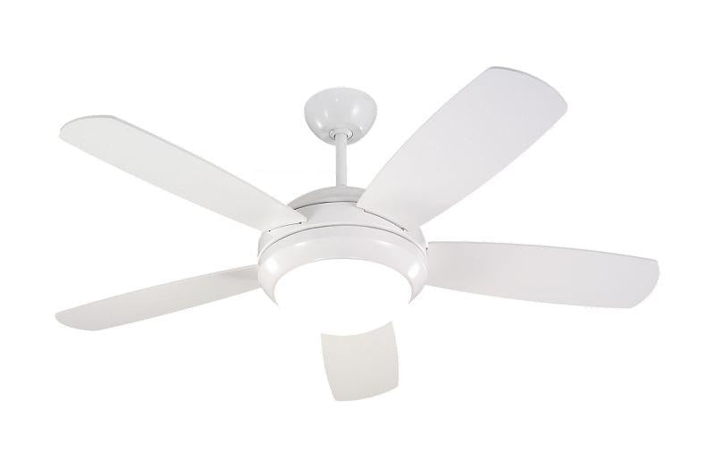 "Monte Carlo 5DI44WHD Ceiling Fan 44"" Discus II Fan White"