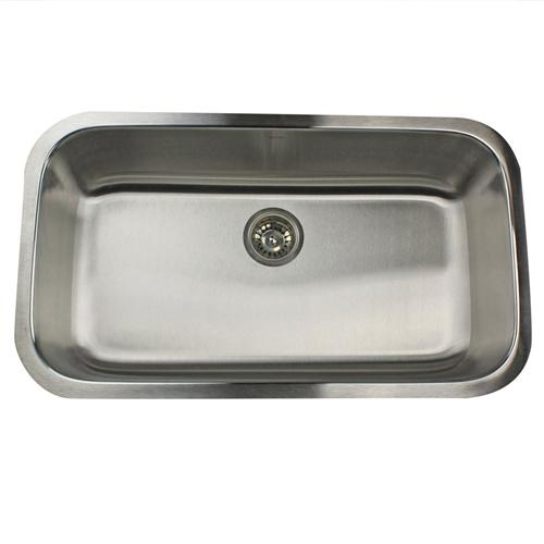 Nantucket Sinks NS3219-16 32-Inch Large Rectangle Single Bowl Stainless Steel Undermount Kitchen Sink