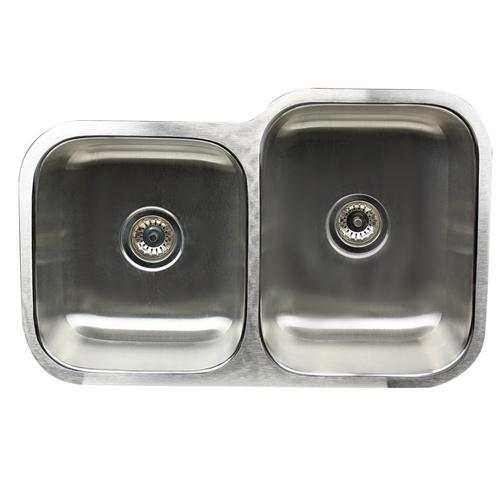 Nantucket Ns6040-16 - 32In Double Bowl Undermount Stainless Steel Kitchen Sink