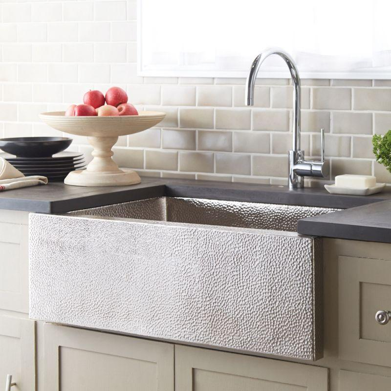 Native Trails CPK592 Pinnacle Copper Kitchen Sink Brushed Nickel