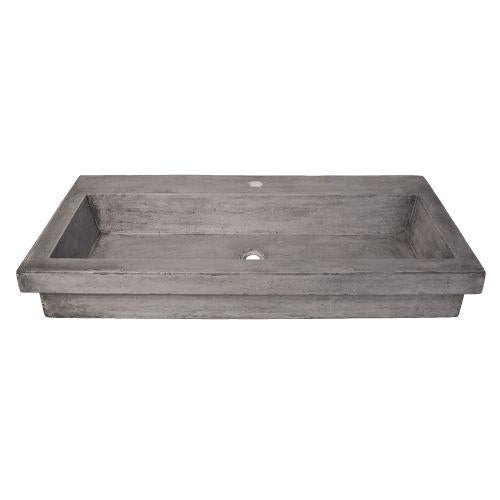 Native Trails NSL3619-A Trough 3619 NativeStone Bath Sink in Ash