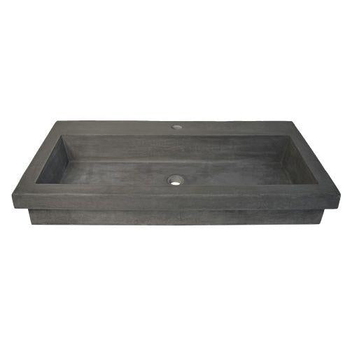 Native Trails NSL3619-S Trough 3619 NativeStone Bath Sink in Slate