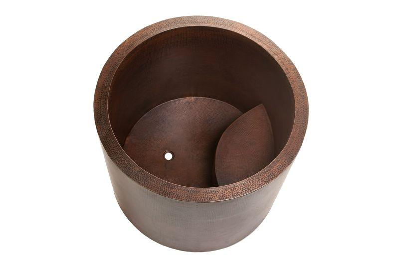 Premier Copper Products BTR45DB Japanese Style Soaking Hand Hammered Copper Bath Tub Oil Rubbed Bronze