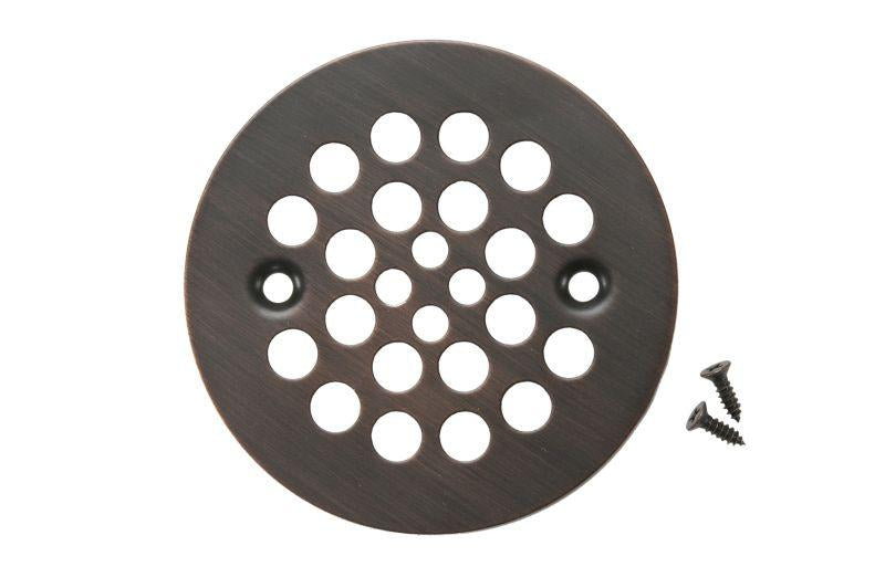 "Premier Copper Products D-415ORB 4.25"" Round Shower Drain Cover Oil Rubbed Bronze"
