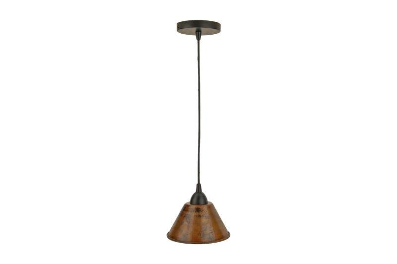 "Premier Copper Products L300DB Hand Hammered Copper 7"" Cone Pendant Light Oil Rubbed Bronze"