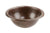 Premier Copper Products LR12RDB Small Round Self Rimming Hammered Copper Sink Oil Rubbed Bronze