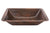 Premier Copper Products LREC19DB Rectangle Under Counter Hammered Copper Bathroom Sink Oil Rubbed Bronze