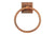 "Premier Copper Products TR10DB 10"" Hand Hammered Copper Full Size Bath Towel Ring Oil Rubbed Bronze"