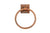 "Premier Copper Products TR7DB 7"" Hand Hammered Copper Towel Ring Oil Rubbed Bronze"