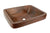 "Premier Copper Products VREC19SKDB 19"" Rectangle Skirted Vessel Hammered Copper Sink Oil Rubbed Bronze"