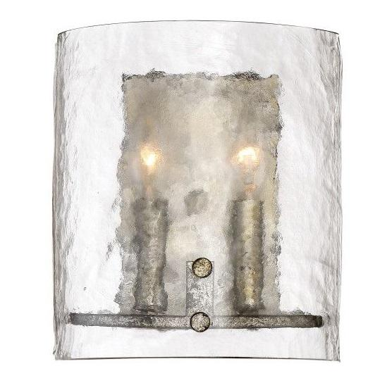 Quoizel FTS8802MM Fortress Wall 2Lts Mottled Silver