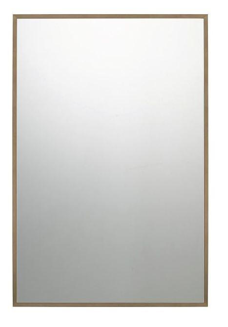 "Quoizel QR3330 Lockport Mirror 36""Hx24""W Antique Brass"