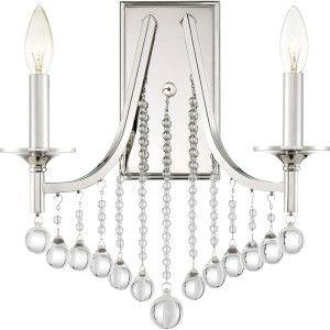 Quoizel QSP8702PK Queenship Wall Sconce Polished Nickel