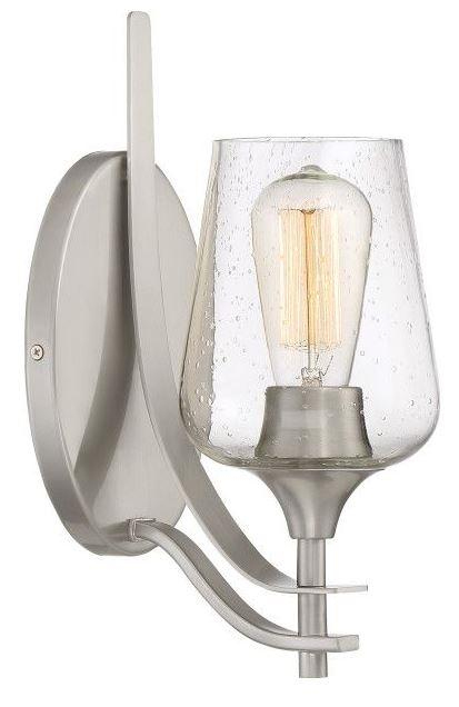 Quoizel TWE8701BN Towne 1 Light Wall Sconce Brushed Nickel