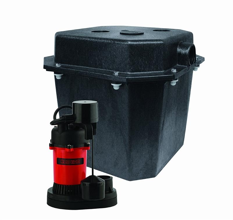 Red Lion 14942736 1/4 HP Sump Pump Water Removal System Red/Black