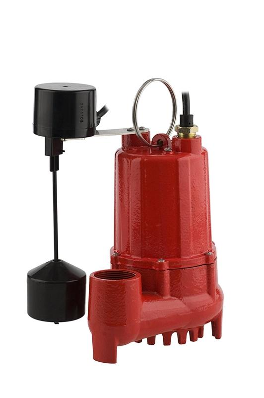 Red Lion 14942745 Auto Sump Pump Cast Iron Red